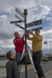Informationsskilte på Rørvig havn